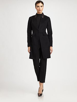костюм Other brands  St. John LeatherCollar Coat