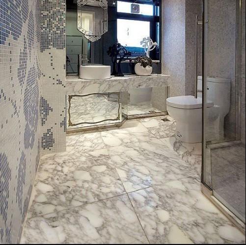 Мрамор Мраморная плита/мрамором ванной оформлены мрамором столешницы / / «Джаз белая ванная комната»