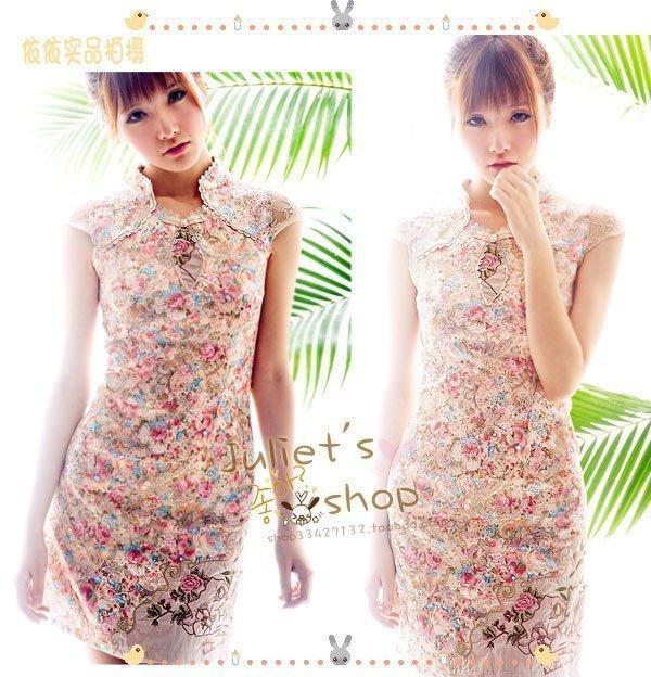 Платье Ципао 849 улучшение хлопкового белья платье моды ретро летнее платье летом 2012 новый стиль белья платье