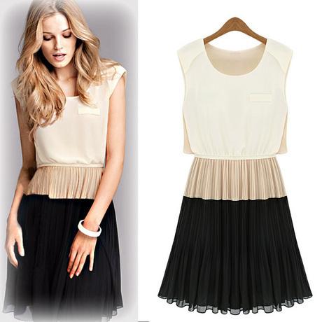 Женское платье Европа и большой новый плюс размер платья, просто шить тонкий шифон плиссированные жилет юбка юбка Лето 2012 Шифон
