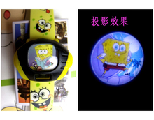 Spongebob squarepants lovely new rubber barrel type digital pin buckle China female electronic watches