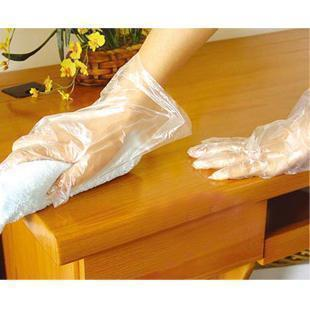 Three transparent/beauty/golden delicious home food disposable gloves (100-Pack) 70g
