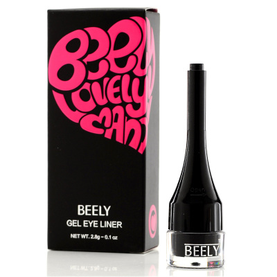 He BEELY Korea lovely manor ultimate big eyes waterproof eyeliner is not blooming black smoke makeup 2.8g