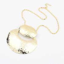 欧美外贸饰品 韩国夸张朋克金属圆盘短款项链 时尚潮流街拍颈链