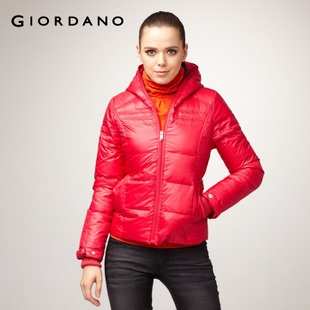2012 Giordano skinny zipper Cap coat-dress goods down jacket 01371567