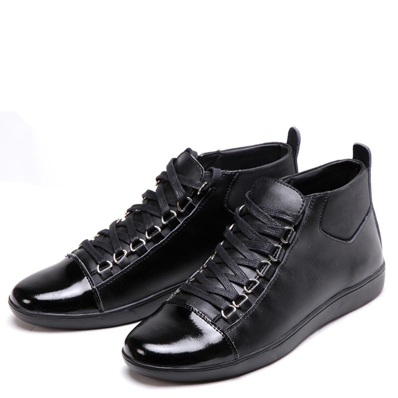 Ботинки мужские AXG mr.g/g13 Для отдыха Острый носок Кожа Мягкая кожа Зима