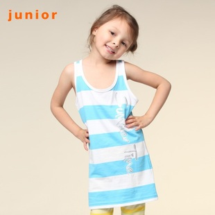 Hot recommend summer summertime Giordano t-shirts girls stripe vest dress 03321028