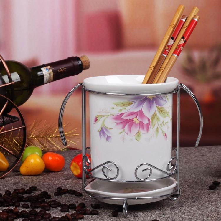【品牌特卖】景德镇优质骨瓷 筷子筒 厨房用品 筷子架 筷子笼