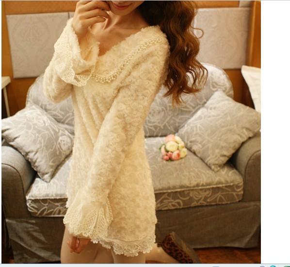 Женское платье Осень/зима спец fcf0 b0aa новые куклы приносят пушистые платье (b)