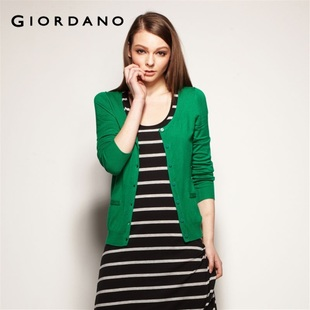 Giordano knit shirts-dress XXL colorful cotton knitwear jackets in summer 2012 01352023