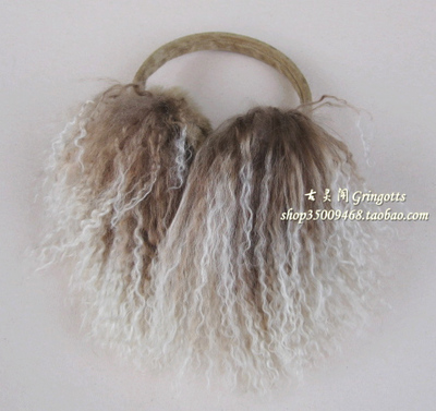 Gringotts super beautiful color drape Beach wool earmuffs ear fur earmuffs cover their ears warm plush ear magazine article