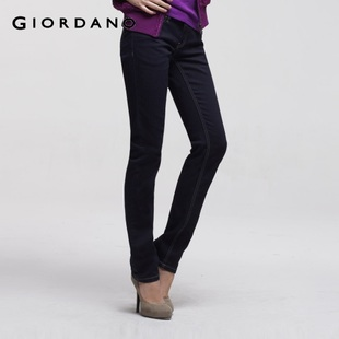 2012 new Giordano pants ladies ' beautiful narrow cotton stretch skinny leg jeans 01411550