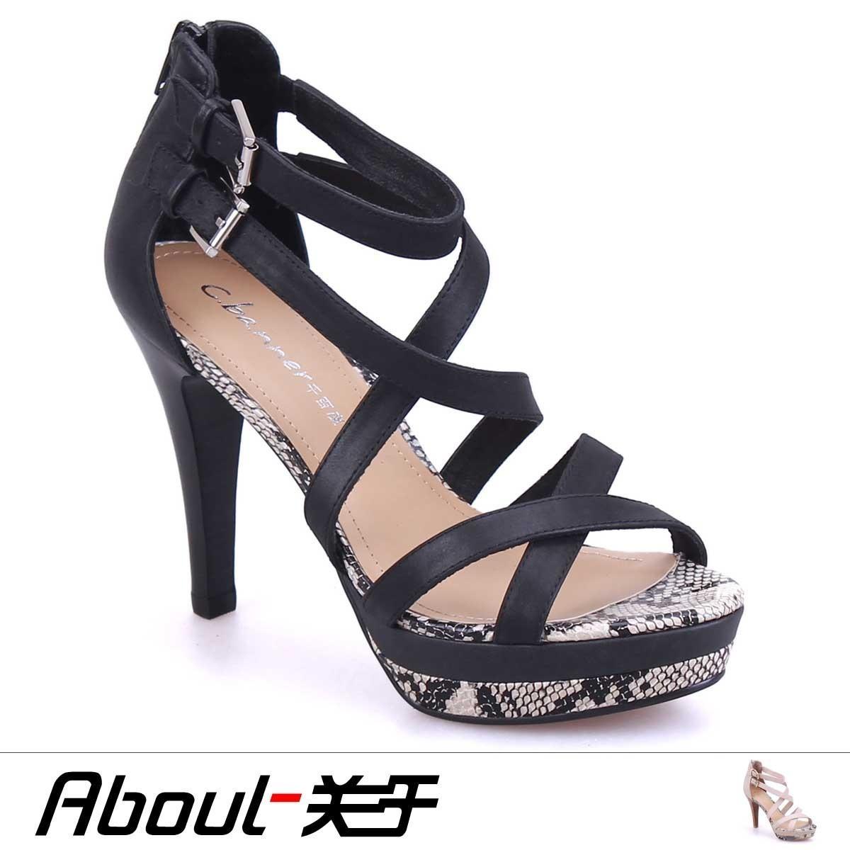 千百度2012夏季新款专柜正品单鞋凉鞋细高跟女鞋a2339