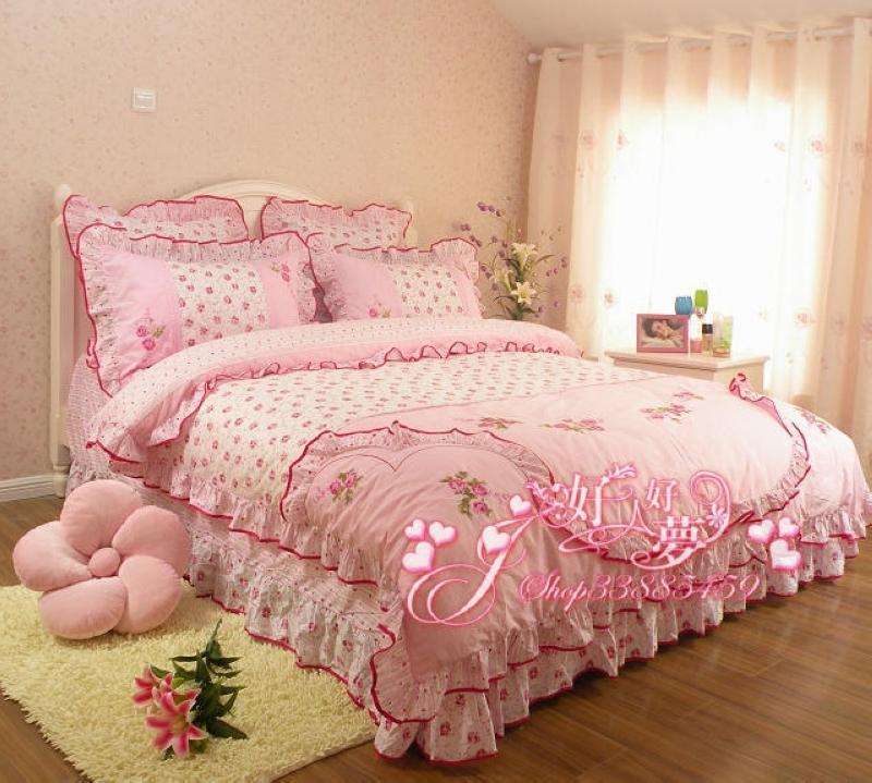 时尚四件套 韩国家纺全棉床品日韩式纯棉田园床上用品正品婚庆
