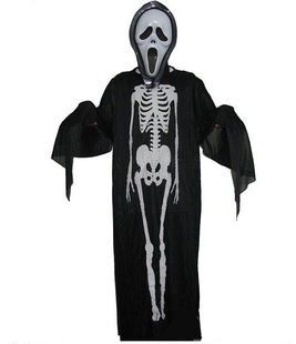 Skeleton ghost clothing + scream mask Halloween costume Halloween costumes Halloween dance party clothing supplies