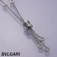 BVLGARI marca collar de acero inoxidable es tan simple como el original [STS-057]