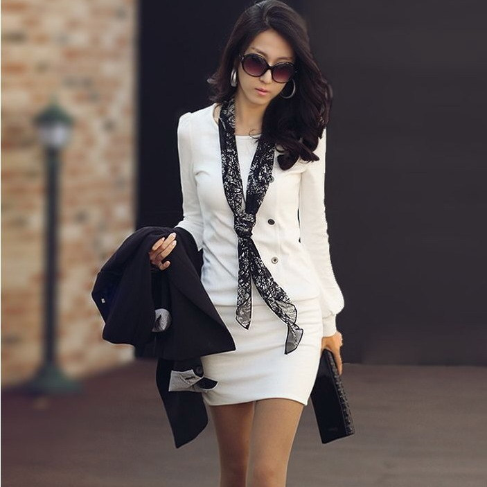 Женское платье Lan Xin H510 2012 OL Осень 2012 Разные