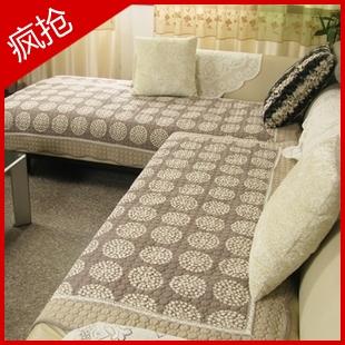 2011新款中式咖啡色幸福圆圈 纯棉布艺绗缝沙发垫飘 ...