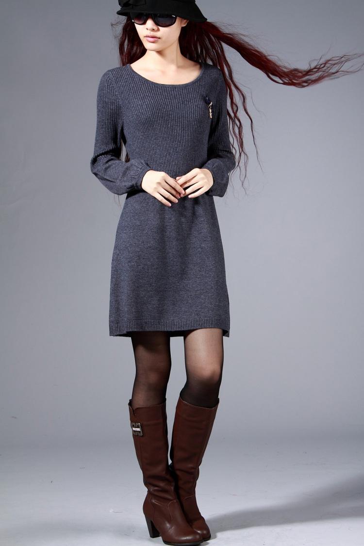 Женское платье Человек дал осечку вверх изысканный * корсажи * ультра тонкий кашемир платье