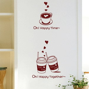 T8 Wall Stickers Carried by the wind flower wall stickers glass stickers cozy romantic bouquet shop bedroom sofa backdrop