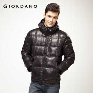 Special second to kill  Giordano men's coat lacquer high light even  hood down jacket 01071525