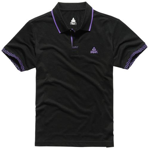 Спортивная футболка Peak f602127 Стандартный Воротник-стойка Полиэстер Для спорта и отдыха Влагопоглощающие Логотип бренда