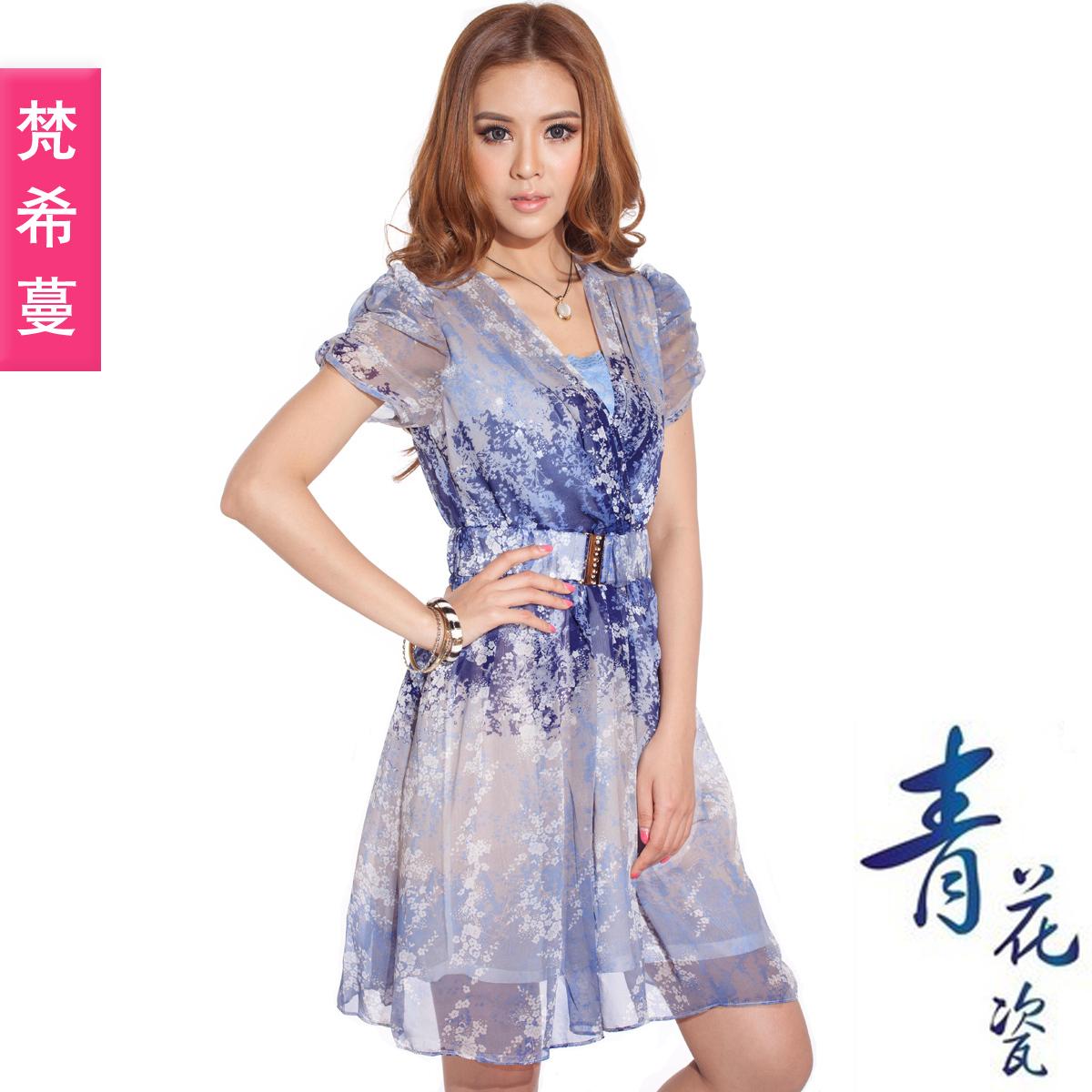 Женское платье Givenchy spread 87565 2012 Лето 2012 Шифон