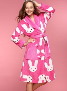 Dream ba Sally new lady leisurewear robe outfit coral flocking parent-child mother with 01435
