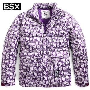 2012 Giordano BSX coat men's printed MINI CHE horse collar cotton jacket 04070556