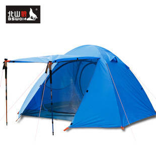 Kitayama Wolf Genuine 3-4 bunk tent camping tent camping tent outdoor people running 3