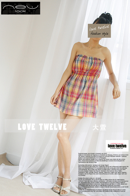 женская рубашка NEWLOOK 2012 Городской стиль Без рукавов В клетку