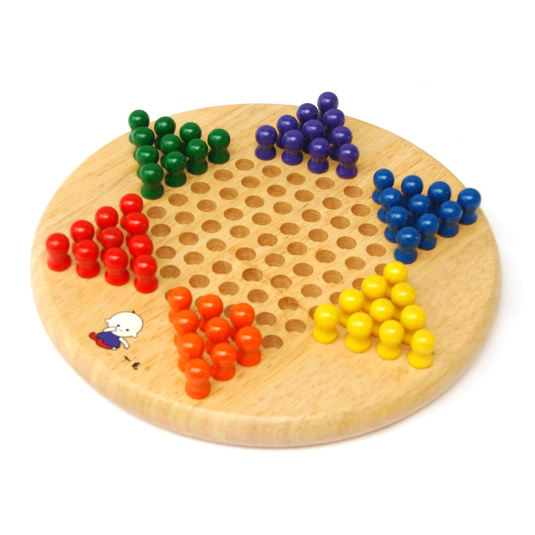 精品木制玩具 益智双面棋 跳棋 单身贵族棋 棋类玩具图片
