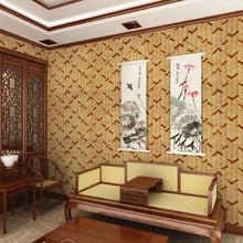 65 客厅书房餐厅背景墙 复古仿真木板木头纹理壁纸 中式古典木纹墙纸图片
