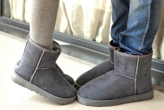 Полуботинки Мета-пакет почты короткие сапоги, которые новые угги для мужчин и женщин пары для осень/зима сапоги Сапоги теплая обувь Угги Без застежки Замша Низкое голенище (10-20 см) Круглый носок