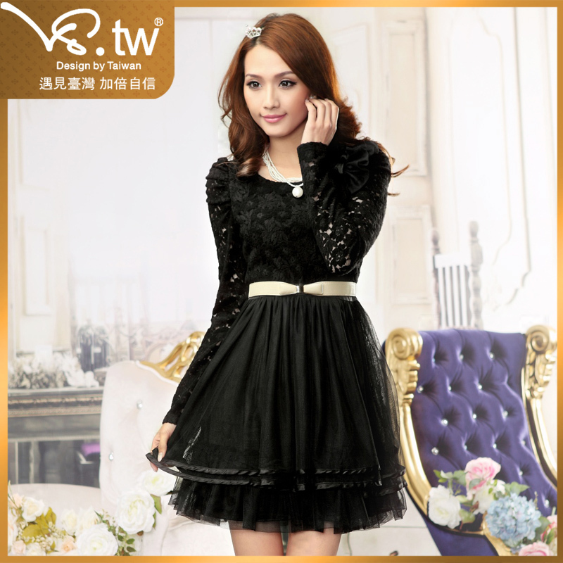 Женское платье VS.TW s2404 VS.tw2012 Осень 2012 Кружево