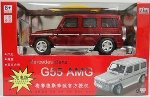 Cars AK56025 Akai genuine off-road remote control car models Mercedes-Benz G55 1:14 charging Edition Gift Set
