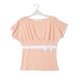 皇冠两件包EMS♀韩国订单~09新款韩版唯美蝴蝶结纯棉宽袖T恤