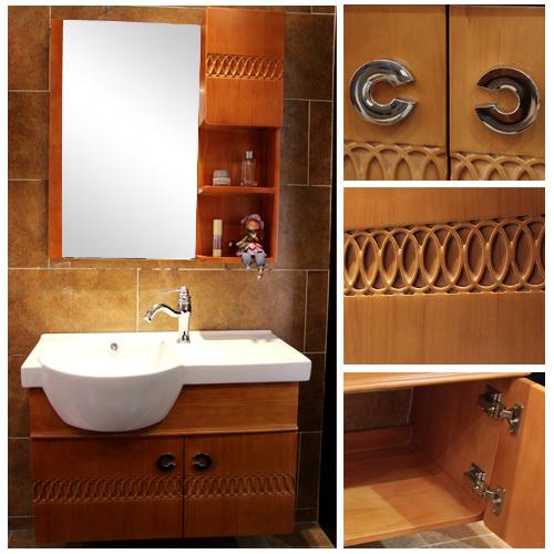 实木橡木浴室柜813