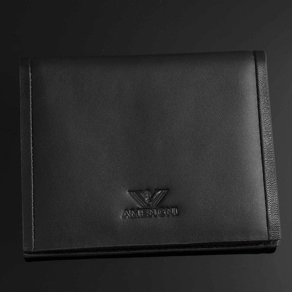 dfs阿玛尼新款钱包男士阿玛尼钱夹纯色竖款方形牛皮包