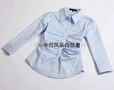 женская рубашка THEORY Городской стиль Длинный рукав Однотонный цвет