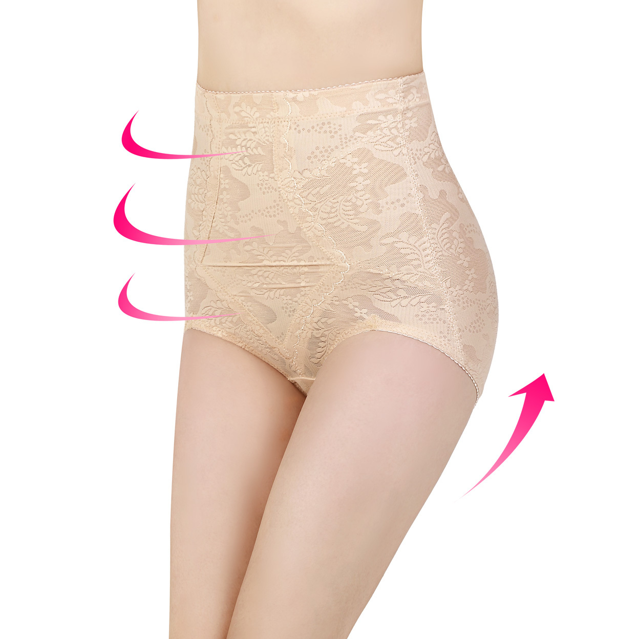 2 bag mail super high waisted seamless one-piece body corset pants tights abdomen hips waist pants female