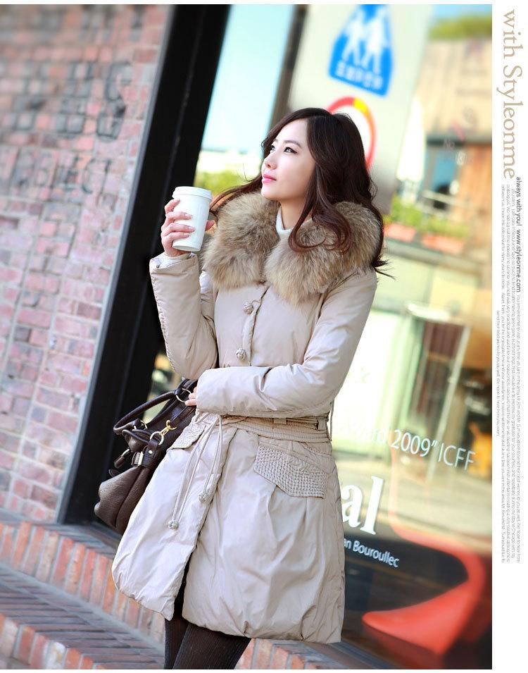 Женский пуховик Моды! 00011 011 новый китайский узел длинный пуховик для осень/зима (1 дюйм) Другие материалы