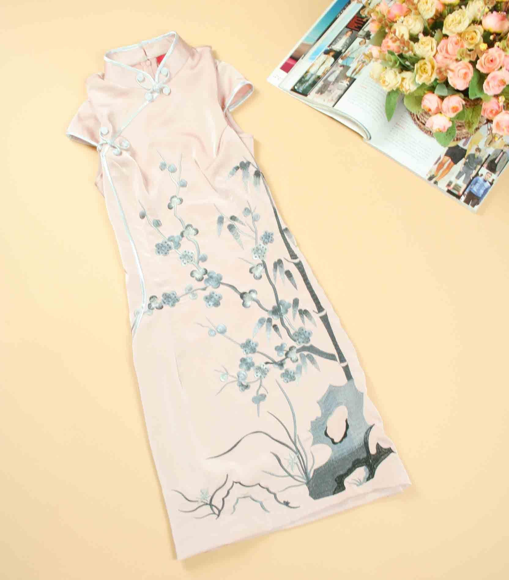 Платье Ципао   -- (82CM),3