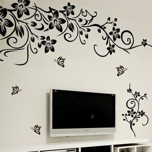 Наклейка на стену Romantic house Плоские стикеры Абстракция