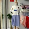 2018夏季女童短袖棉质衬衫拼接连衣裙中大童套头长衫裙子