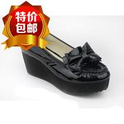 森达 2014女鞋 漆牛皮 时尚 厚底 松糕鞋 4BM06D