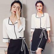 2019OL通勤女装连衣裙夏季时尚气质正式场合职业两件套装裙子
