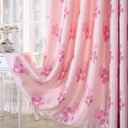 田园高档提花全遮光窗帘遮光布料客厅加厚遮阳布成品窗帘