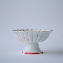 日式创意陶瓷高台盛器高脚凉菜盘子碟子深盘小吃盘多用盘料理餐具