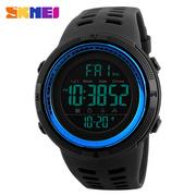 时刻美男士户外运动手表 数字式夜光防水LED电子表多功能学生腕表